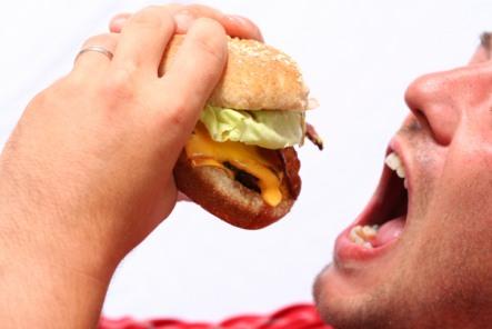 eating meat hamburger vs vegetarian