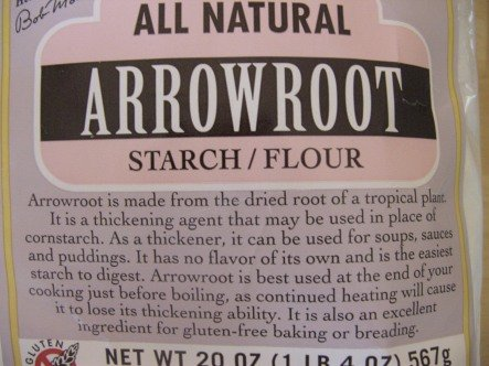 arrowroot flour for healthy Gluten Free baking