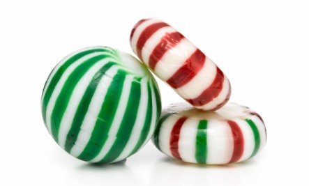 christmas candies red and green