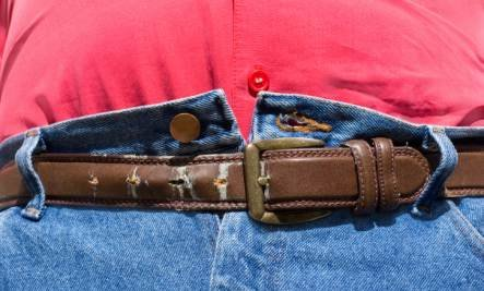 belly stretched belt