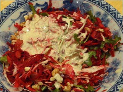warm winter crunchy salad
