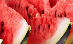 Close up of watermelon slices