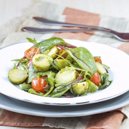 Salad-BrusselsSproutsCabbageTomatoes470179647-2-443x443