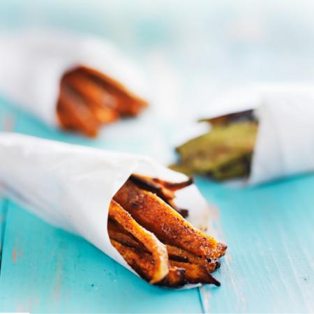 homemade baked sweet potato fries