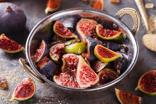Fig jam.ingredients for cooking.
