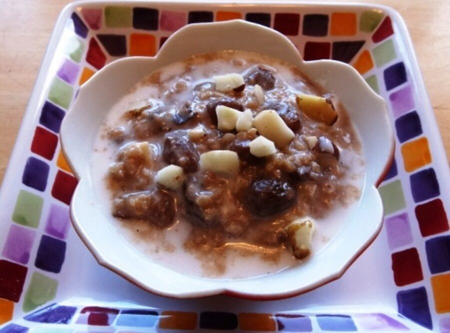 Tasty Millet Coconut Pudding with Brazil Nuts