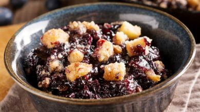 Photo of Delicious Blueberry Crumble Recipe