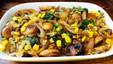 Photo of Delicious Wild Rice Risotto with Corn and Mushrooms