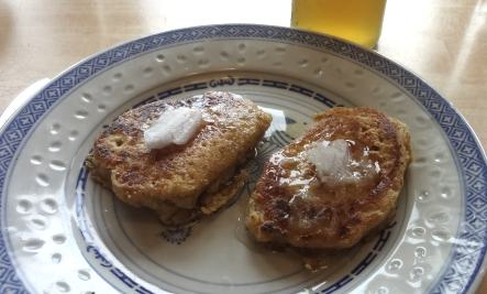 Photo of Dandelion Flower Cornmeal Pancakes
