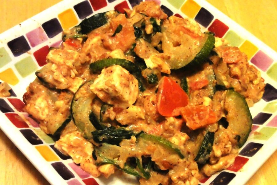 Tofu with Zucchini