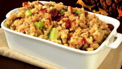 Photo of Cranberry Celery Onion Gluten-Free Stuffing Recipe