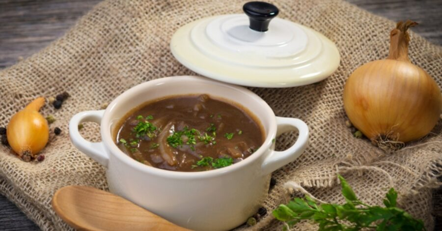 Photo of Vegan Onion Soup for Dinner or Lunch