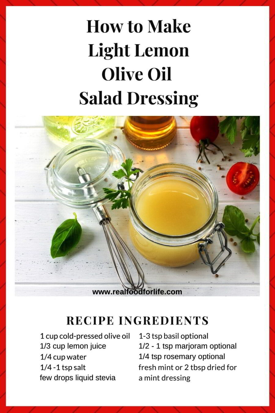 Olive Oil Salad Dressing