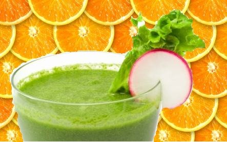 Orange Spinach Green Smoothie
