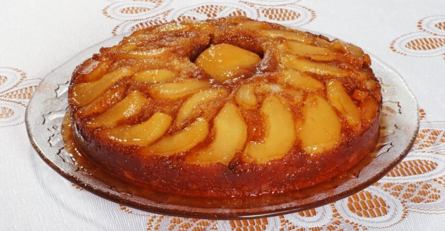 Photo of Pear Upside-Down Cake Is Vegan and Gluten-Free