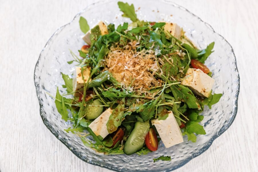 Photo of Fresh Sprout Salad with Tofu for Lunch