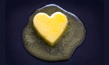 butter heart compared to margarine