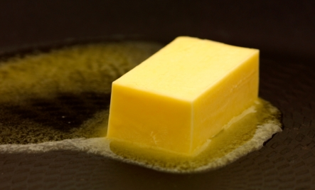 butter on pan vs margarine