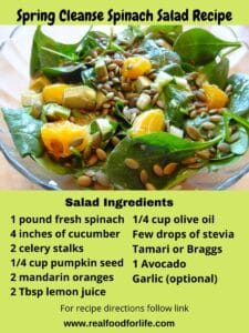 spring cleanse spinach salad