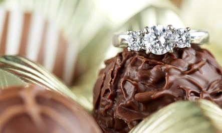 Chocolate and diamond