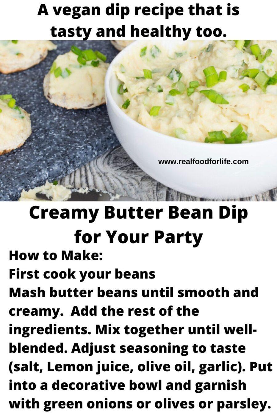 butter bean dip
