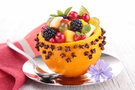 decorative christmas fruit cup