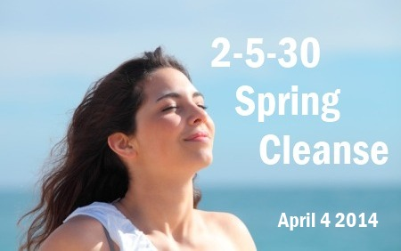 spring cleanse on blue