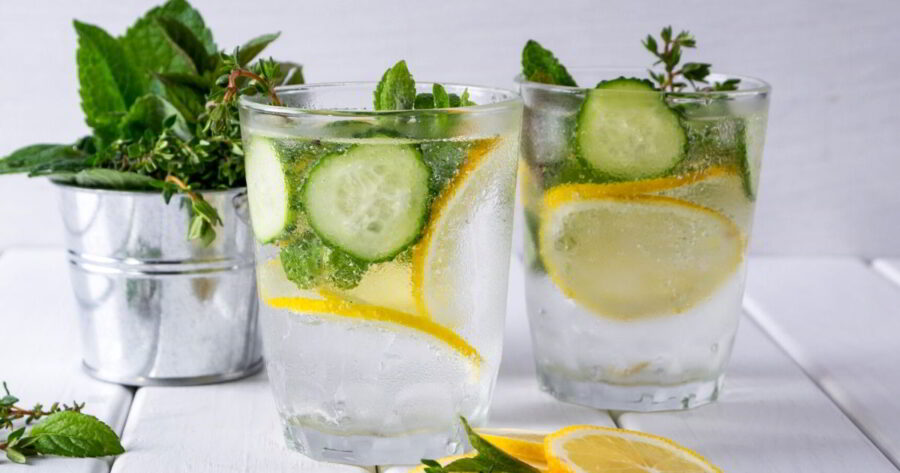 Sparkling Cucumber Lemon Water