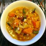 Warming Vegetable Stew with Peanut Butter