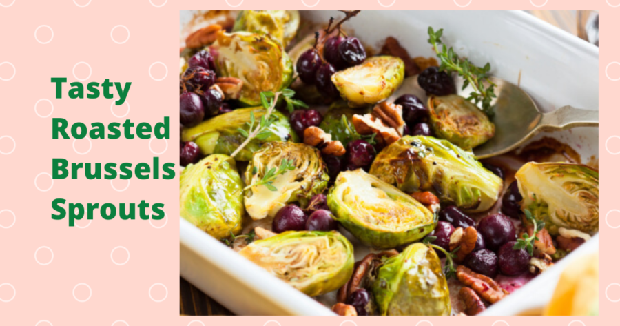 Photo of Roasted Brussels Sprouts with Pecans and Cranberries Recipe