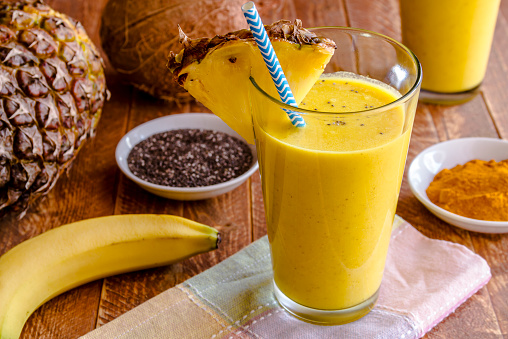 Pineapple, Banana Turmeric Smoothie