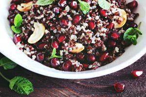 Quinoa with pomegranate