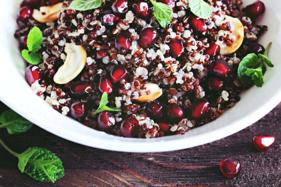 Quinoa with pomegranate