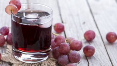 Photo of Grape Juice Freshly Made in a Blender Is Sweet and Easy