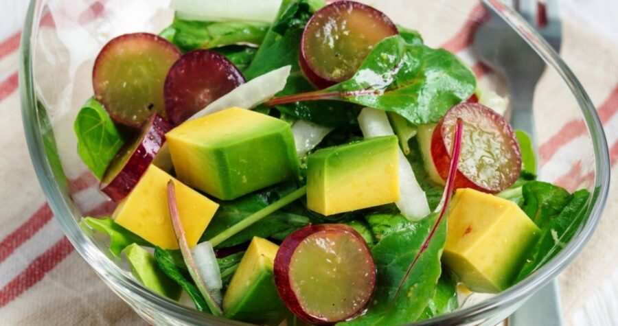 Photo of Salad with Grapes and Avocado Is Very Healthy and Tasty