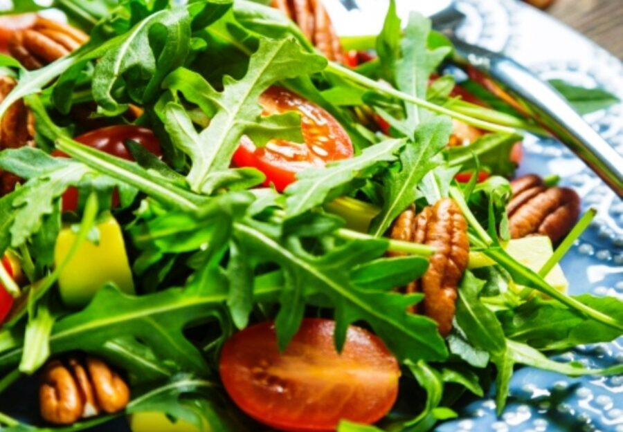 Photo of Tasty Arugula Salad with Pecans