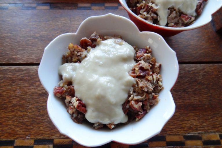 Wild rice pudding