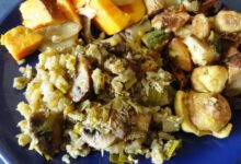 Photo of Grain-Free Stuffing Recipe with Cauliflower and Mushrooms