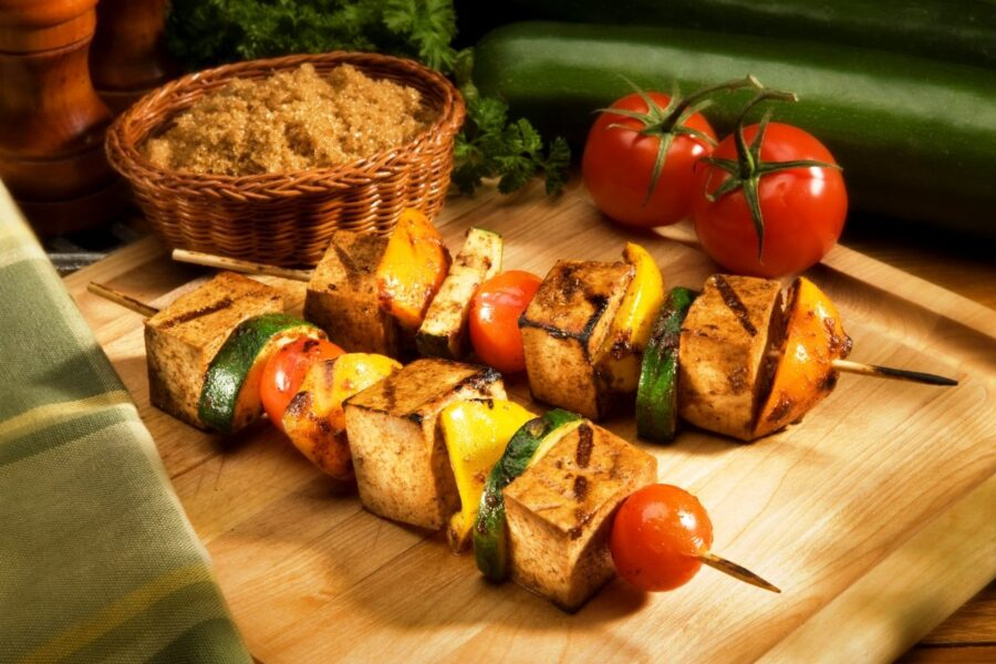 Photo of Tofu Kebabs are Delicious for Dinner and Are Vegan
