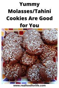Molasses Tahini Cookies