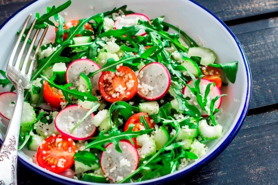 Photo of Delicious Radish Quinoa Salad with Arugula