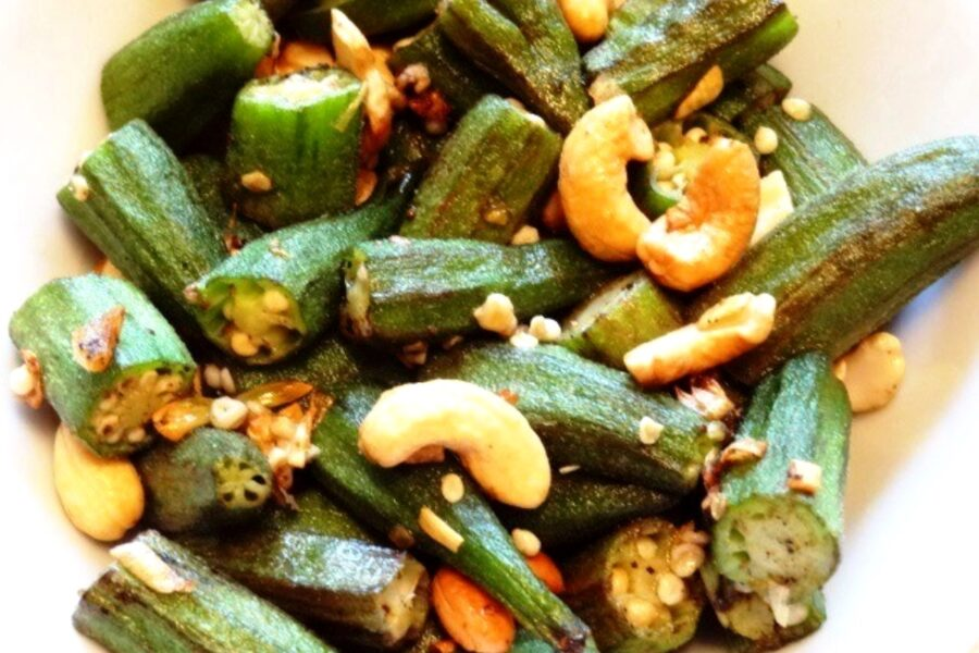 Photo of Okra Sautéed with Cashews and Garlic is So Delicious