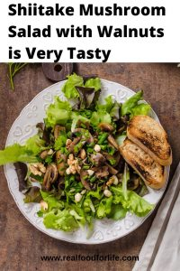 Shiitake Mushrooms Salad