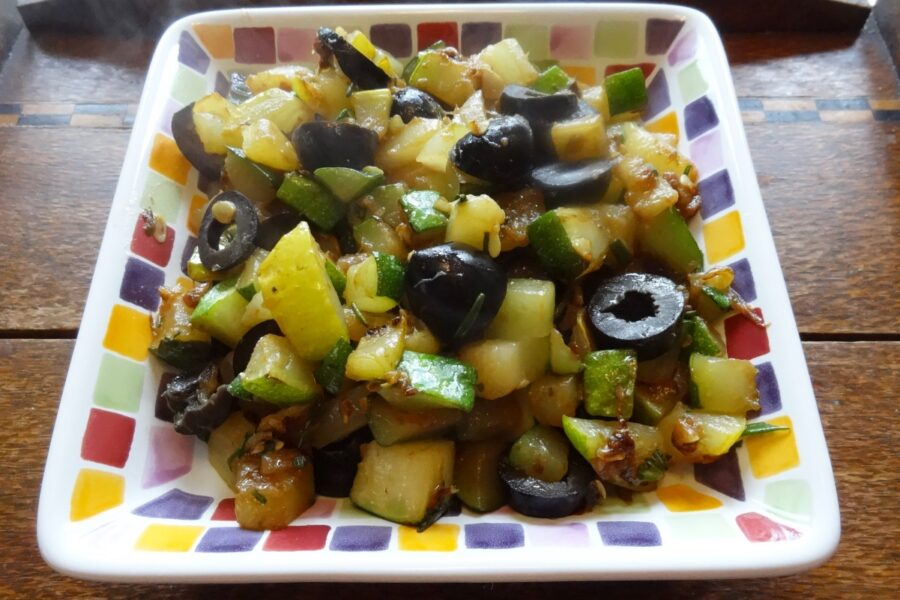 Photo of Sauteed Zucchini With Olives For Dinner