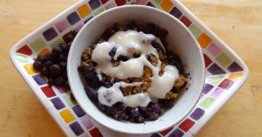 Photo of Wild Blueberry Grain-Free Crumble is Tasty and Good for You