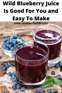 Wild Blueberry Juice